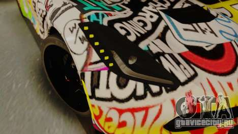 Chevrolet Corvette Stingray C7 2014 Sticker Bomb для GTA San Andreas вид изнутри
