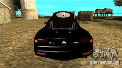 Mazda RX-7 Rusty Rebel для GTA San Andreas вид справа