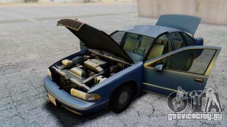 Chevrolet Caprice 1993 для GTA San Andreas вид изнутри