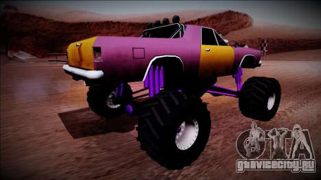 Picador Monster Truck для GTA San Andreas вид сзади слева