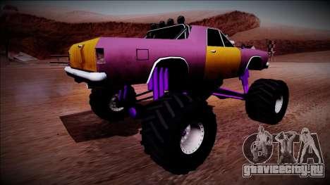 Picador Monster Truck для GTA San Andreas вид сзади слева