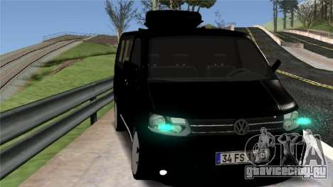 Volkswagen bus By.Snebes для GTA San Andreas вид слева