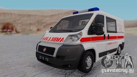 Fiat Ducato Turkish Ambulance для GTA San Andreas