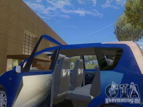 Nissan Note v1.0 Final для GTA San Andreas вид изнутри