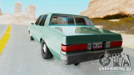 Chevrolet Malibu 1981 Twin Turbo для GTA San Andreas вид слева