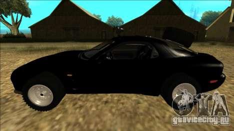 Mazda RX-7 Rusty Rebel для GTA San Andreas вид слева