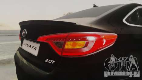Hyundai Sonata Turbo 2.0 2015 V1.0 Final для GTA San Andreas вид сверху