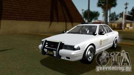 GTA 5 Vapid Stanier II Sheriff Cruiser IVF для GTA San Andreas