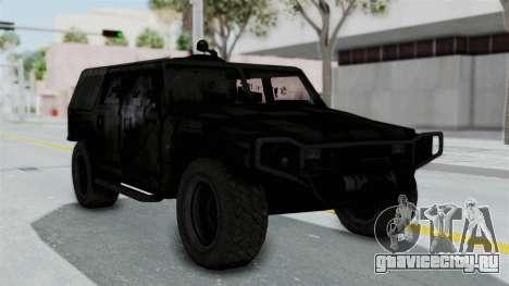 HMLTV-998 BULDOG from Crysis 2 для GTA San Andreas вид сзади слева
