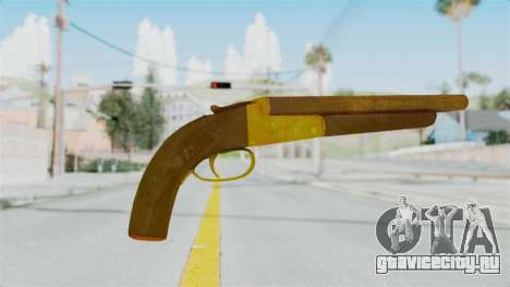 Double Barrel Shotgun Gold Tint (Lowriders CC) для GTA San Andreas второй скриншот