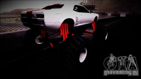 GTA 5 Bravado Gauntlet Monster Truck для GTA San Andreas вид сзади слева