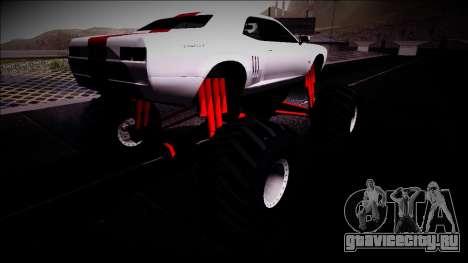 GTA 5 Bravado Gauntlet Monster Truck для GTA San Andreas вид сзади слева