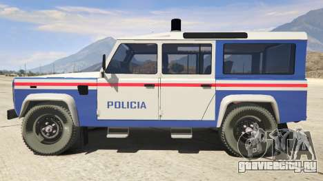 Land Rover Defender для GTA 5 вид слева