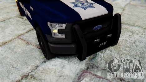 Ford F-150 2015 Policia Federal для GTA San Andreas вид сзади