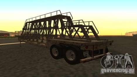 Прицеп для перевозки панелей для GTA San Andreas вид слева