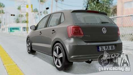 Volkswagen Polo 6R 1.4 HQLM для GTA San Andreas вид слева