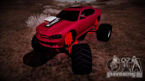 2006 Dodge Charger SRT8 Monster Truck для GTA San Andreas вид сзади слева
