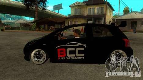 Toyota Yaris (Vitz) [Black Car Community] для GTA San Andreas вид слева