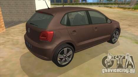 Volkswagen Polo 6R 1.4 для GTA San Andreas вид справа