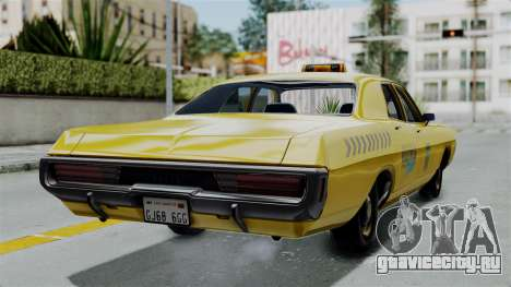 Dodge Polara 1971 Kaufman Cab для GTA San Andreas вид слева