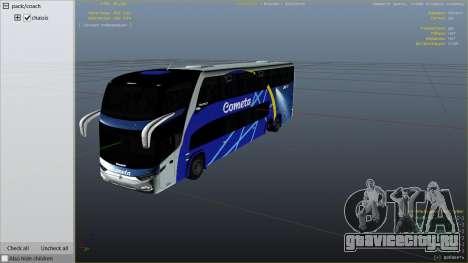 Marcopolo Paradiso 1800 для GTA 5 вид справа
