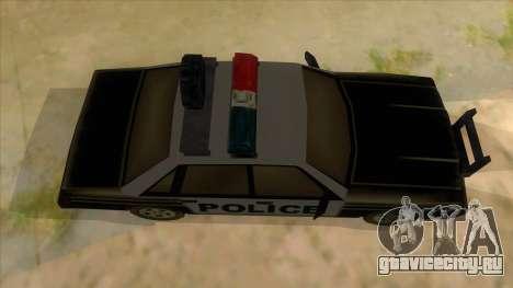 Police Car from Manhunt 2 для GTA San Andreas вид изнутри