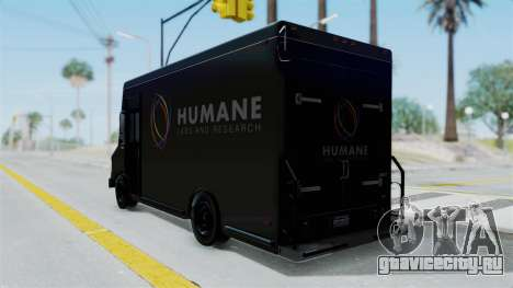 Brute Boxville Laboratorios Humane для GTA San Andreas вид слева