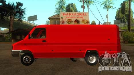 Zastava Daily 35B Special для GTA San Andreas вид слева