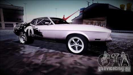 1971 Ford Mustang Drag для GTA San Andreas вид справа