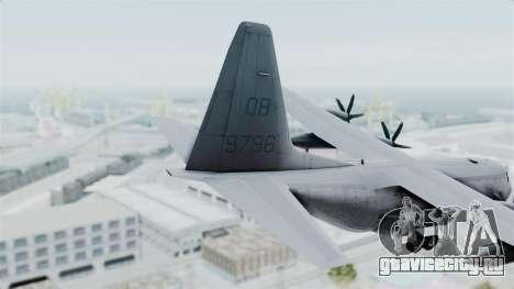 KC-130J Harvest Hawk для GTA San Andreas вид сзади слева