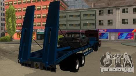 Trailer with Hydaulic Ramps для GTA San Andreas вид справа