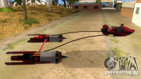 StarWars Anakin Podracer для GTA San Andreas вид слева