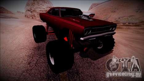 1969 Plymouth Road Runner Monster Truck для GTA San Andreas вид снизу