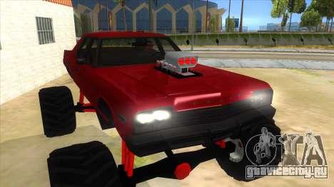 1974 Dodge Monaco Monster Truck для GTA San Andreas вид сзади
