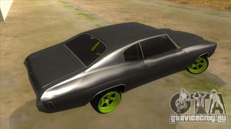 1970 Chevrolet Chevelle SS Drift Monster Energy для GTA San Andreas вид справа