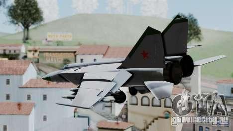 MIG-25 Foxbat для GTA San Andreas вид слева
