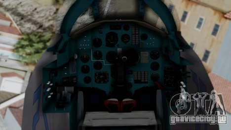 MIG-25 Foxbat для GTA San Andreas вид справа