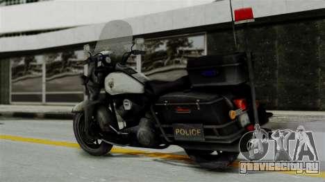 Police Bike from RE ORC для GTA San Andreas вид слева