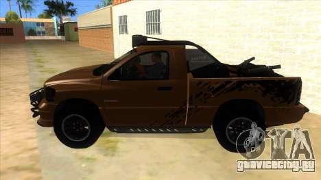 Dodge Ram SRT DES 2012 для GTA San Andreas вид слева