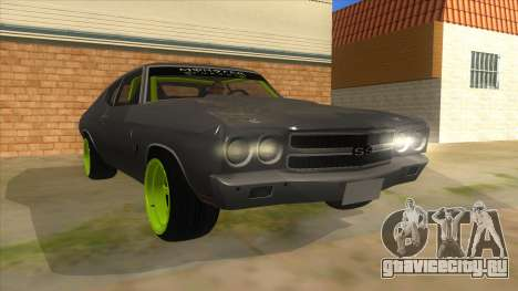 1970 Chevrolet Chevelle SS Drift Monster Energy для GTA San Andreas вид сзади