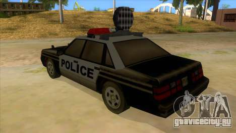 Police Car from Manhunt 2 для GTA San Andreas вид сзади слева