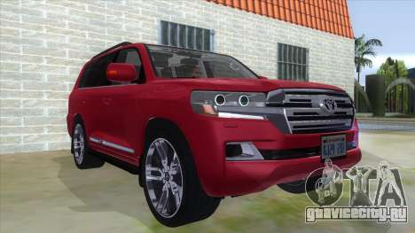 2016 Toyota Land Cruiser 200 V2 для GTA San Andreas вид сзади