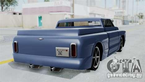 Дополненный Slamvan для GTA San Andreas вид слева