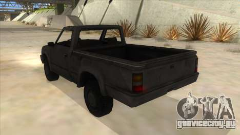 Toyota Hilux Militia для GTA San Andreas вид сзади слева
