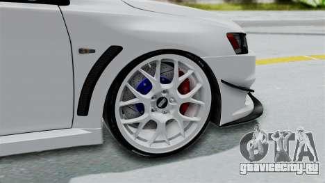 Mitsubishi Lancer Evolution X GSR Full Tunable для GTA San Andreas вид сзади слева