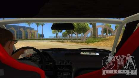 Nissan 240SX Stance Nico Yazawa Itasha Livery для GTA San Andreas вид изнутри