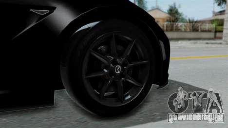 Mazda MX-5 Miata 2016 для GTA San Andreas вид сзади слева