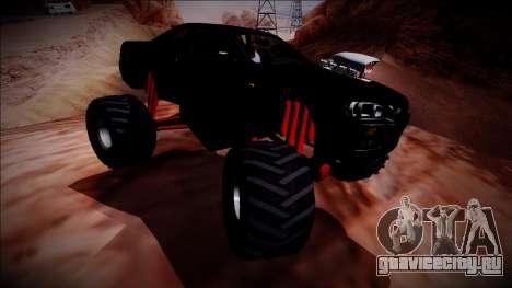 Nissan Skyline R34 Monster Truck для GTA San Andreas вид сбоку