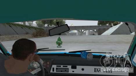Dacia 1310 Rusty для GTA San Andreas вид изнутри