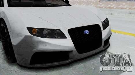 GTA 5 Truffade Adder v2 IVF для GTA San Andreas вид изнутри